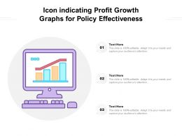 Icon Indicating Profit Growth Graphs For Policy Effectiveness