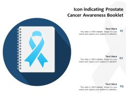 Icon Indicating Prostate Cancer Awareness Booklet