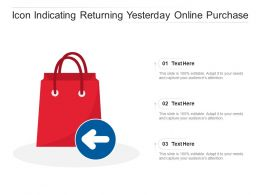 Icon Indicating Returning Yesterday Online Purchase