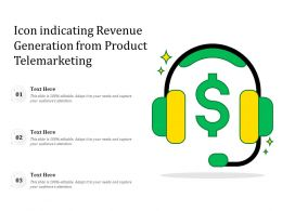 Icon Indicating Revenue Generation From Product Telemarketing