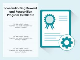 Icon Indicating Reward And Recognition Program Certificate
