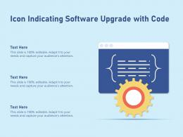 Icon Indicating Software Upgrade With Code
