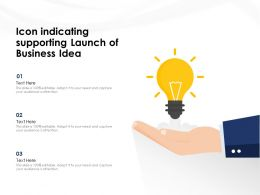 Icon Indicating Supporting Launch Of Business Idea