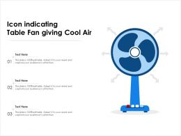 Icon Indicating Table Fan Giving Cool Air