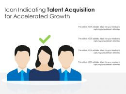 Icon Indicating Talent Acquisition For Accelerated Growth