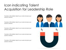 Icon Indicating Talent Acquisition For Leadership Role