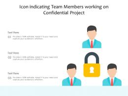 Icon Indicating Team Members Working On Confidential Project