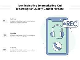 Icon Indicating Telemarketing Call Recording For Quality Control Purpose