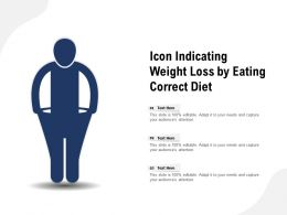 Icon Indicating Weight Loss By Eating Correct Diet