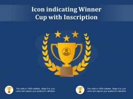 Icon Indicating Winner Cup With Inscription
