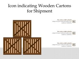 Icon Indicating Wooden Cartons For Shipment