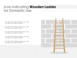 Icon Indicating Wooden Ladder For Domestic Use