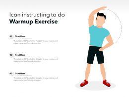 Icon Instructing To Do Warmup Exercise