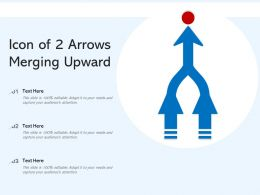 Icon Of 2 Arrows Merging Upward