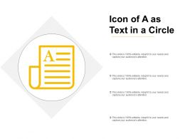 Icon Of A As Text In A Circle