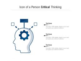 Icon Of A Person Critical Thinking