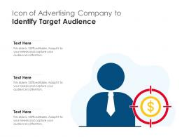 Icon Of Advertising Company To Identify Target Audience