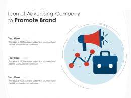 Icon Of Advertising Company To Promote Brand