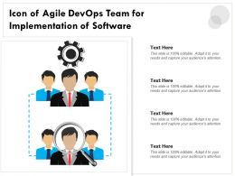 Icon Of Agile Devops Team For Implementation Of Software