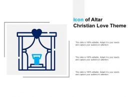 Icon Of Altar Christian Love Theme