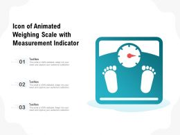 Icon Of Animated Weighing Scale With Measurement Indicator