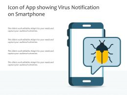 Icon Of App Showing Virus Notification On Smartphone
