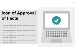 Icon Of Approval Of Facts