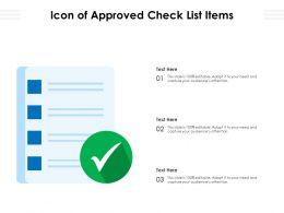 Icon Of Approved Check List Items