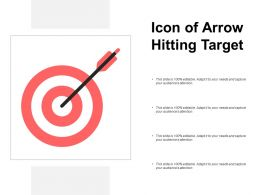 Icon Of Arrow Hitting Target