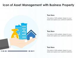 Icon Of Asset Management With Business Property