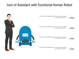 Icon Of Assistant With Functional Human Robot
