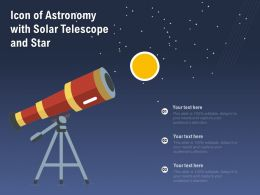 Icon Of Astronomy With Solar Telescope And Star