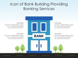 Icon Of Bank Building Providing Banking Services