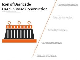 Icon Of Barricade Used In Road Construction