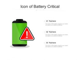 Icon Of Battery Critical