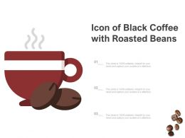 Icon Of Black Coffee With Roasted Beans