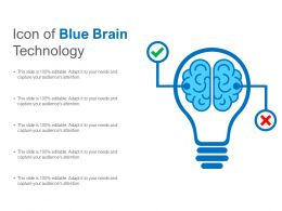 Icon Of Blue Brain Technology