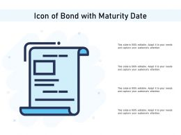 Icon Of Bond With Maturity Date