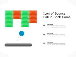 Icon Of Bounce Ball In Brick Game