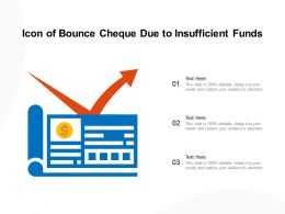 Icon Of Bounce Cheque Due To Insufficient Funds