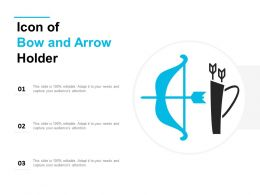 Icon Of Bow And Arrow Holder