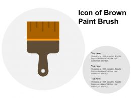 Icon Of Brown Paint Brush