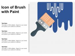 Icon Of Brush With Paint