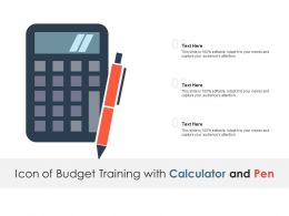 Icon Of Budget Training With Calculator And Pen