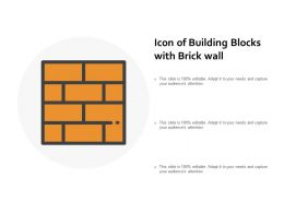 Icon Of Building Blocks With Brick Wall