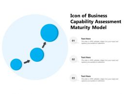 Icon Of Business Capability Assessment Maturity Model