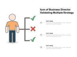 Icon Of Business Director Validating Multiple Strategy