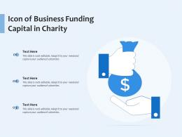 Icon Of Business Funding Capital In Charity