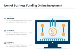 Icon Of Business Funding Online Investment
