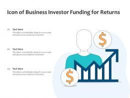 Icon Of Business Investor Funding For Returns